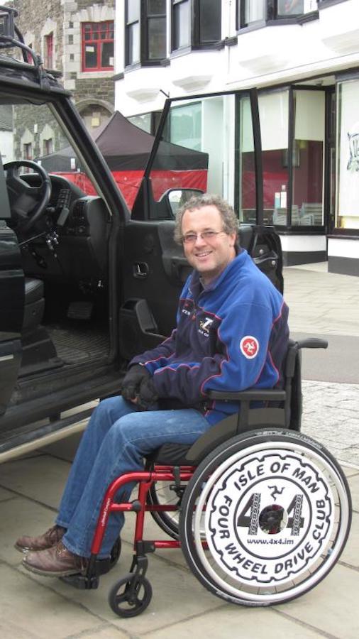 4x4 spoke guards on wheelchair