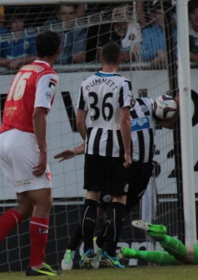 Newcastle United player handball