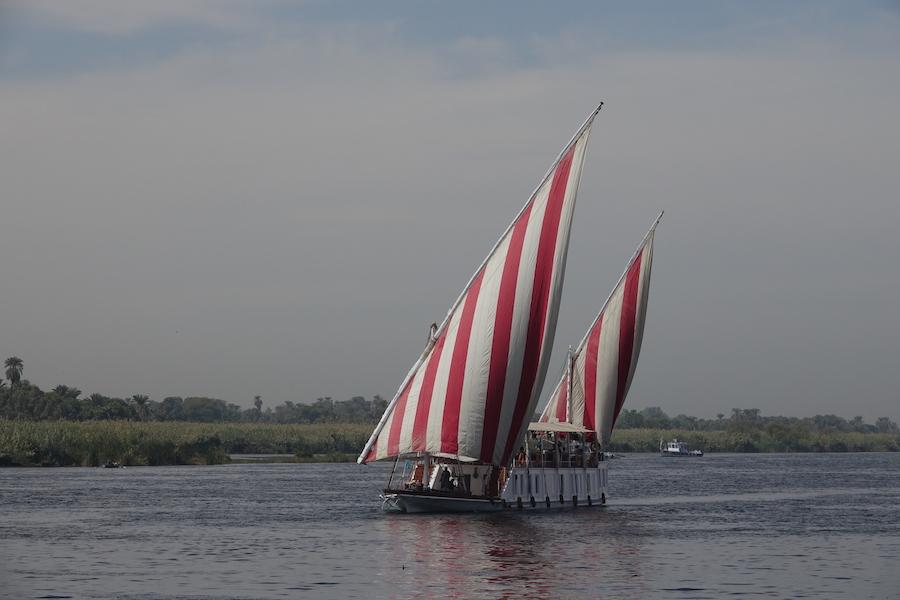 Dahabiya Under Sail
