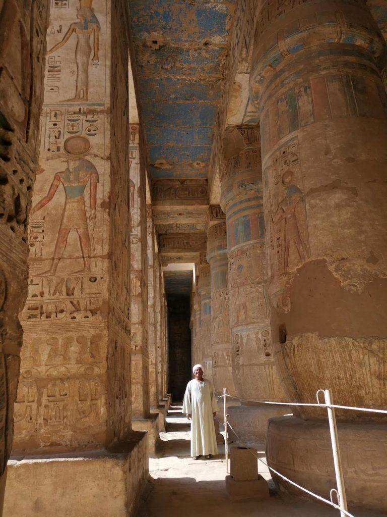 Colour preserved in Medinet Habu