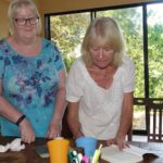 Lindsey signing Elaine's copy of What About Your Saucepans and the second book, Life After Saucepans.